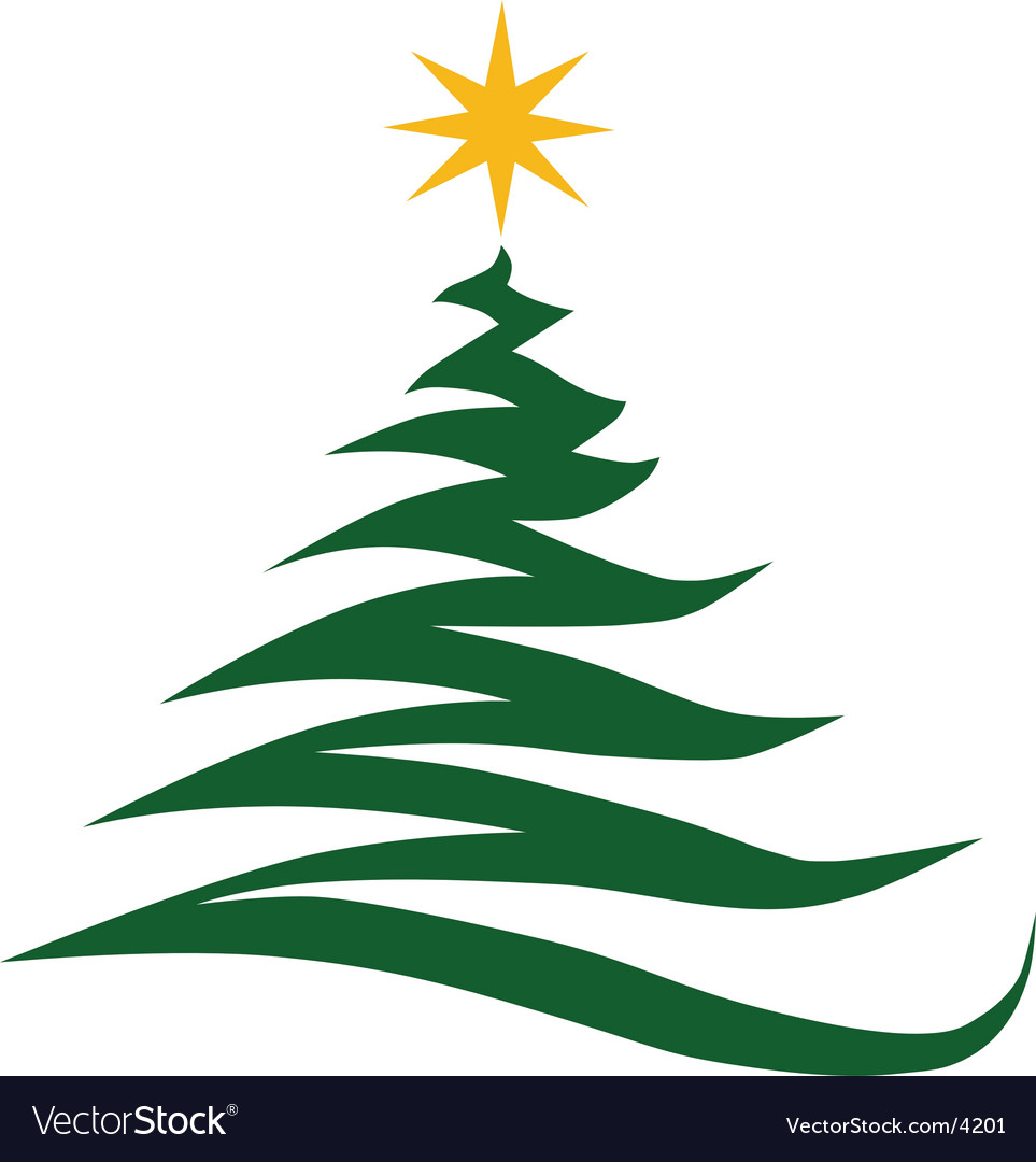 Christmas tree vector by TinDesigns - Image #4201 - VectorStock