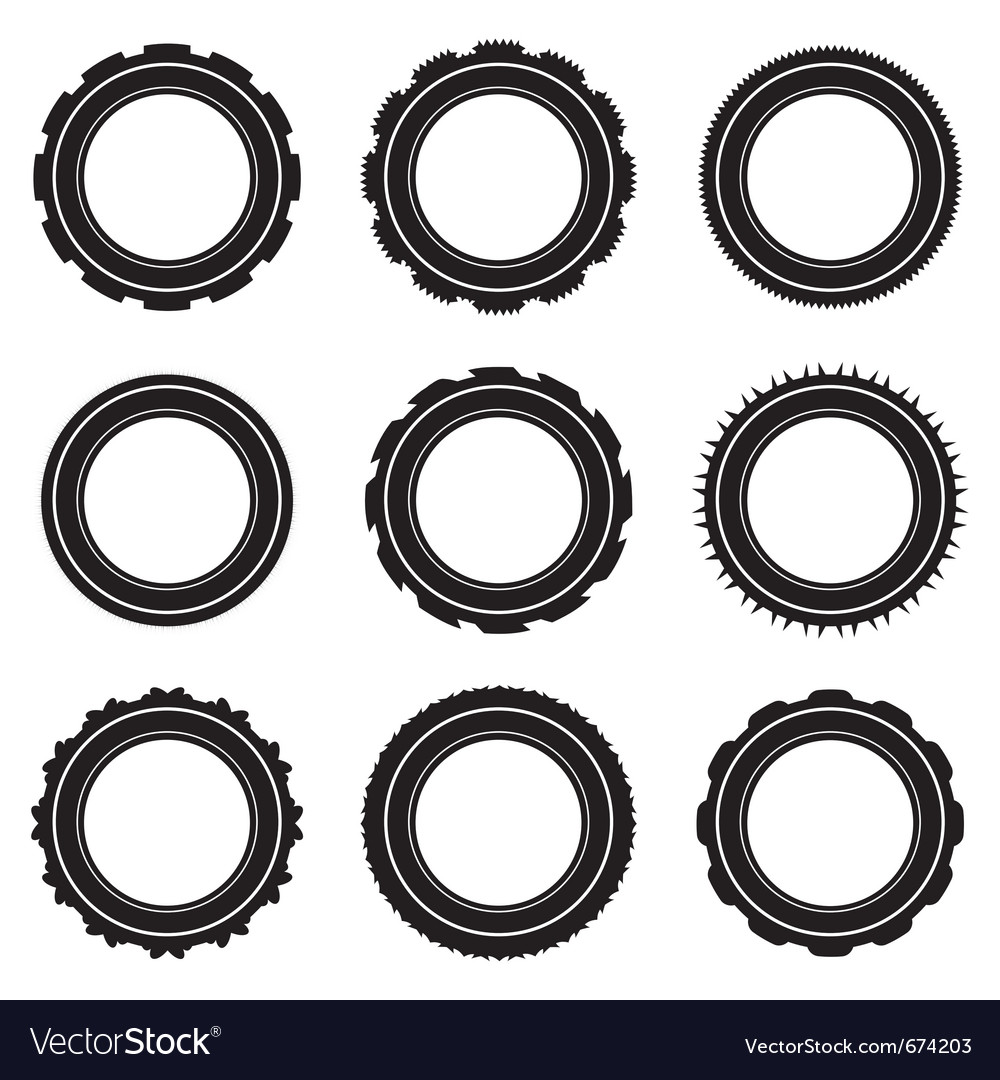 Black car tyre selection vector