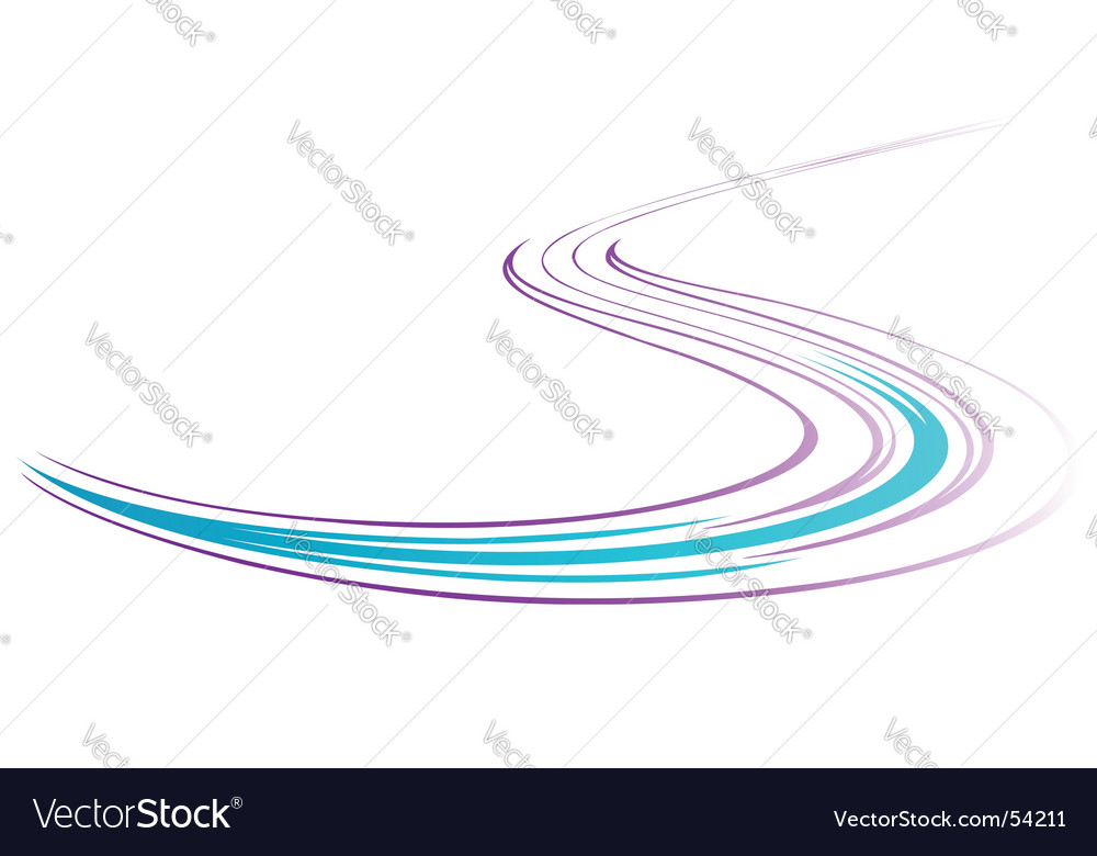 Serpentine stripe vector