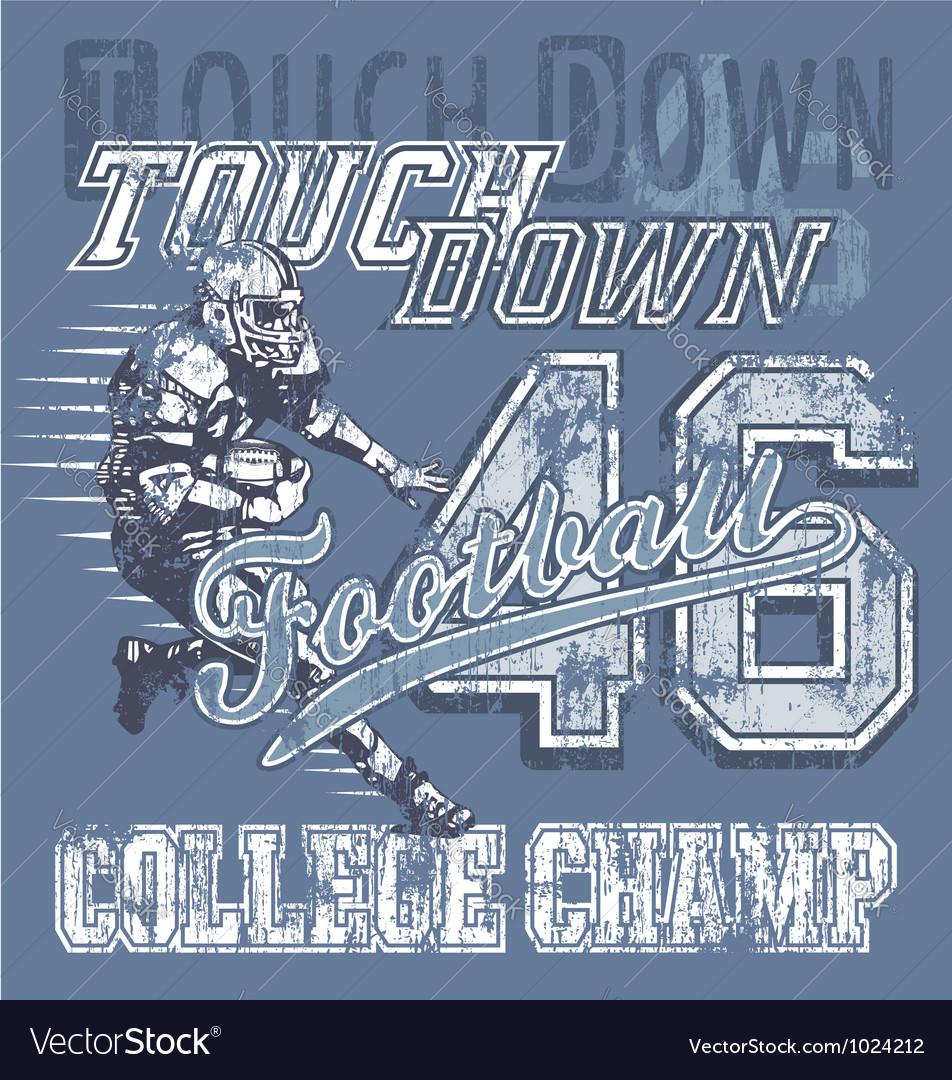 Touchdown football vector