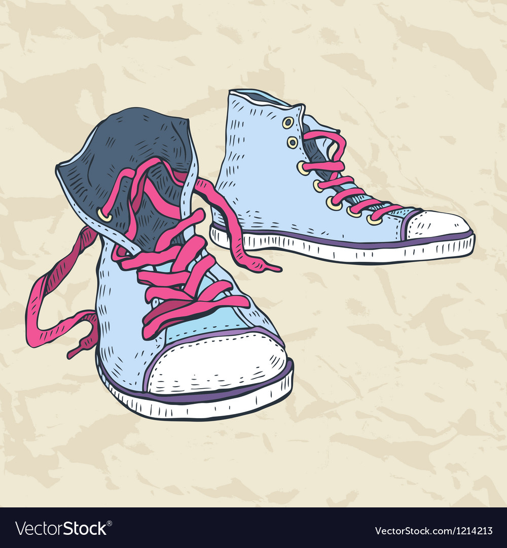 Sport shoes sneakers vector