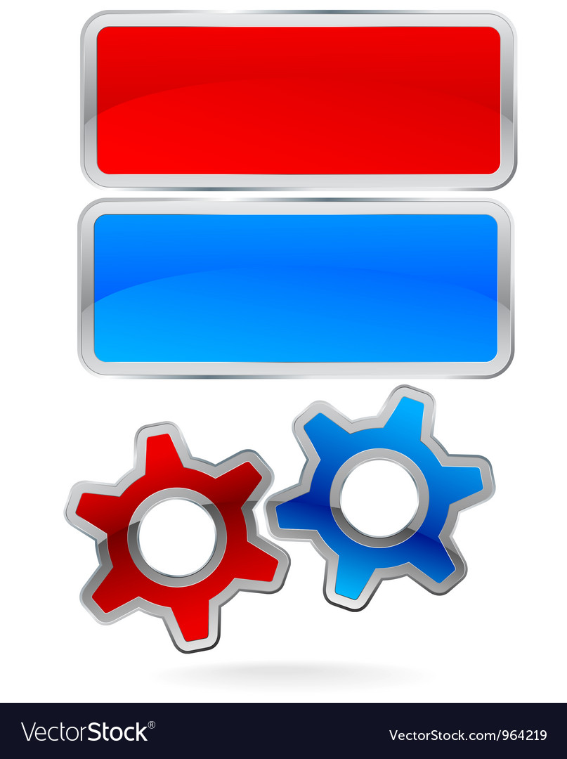 Gear cog logo labels vector