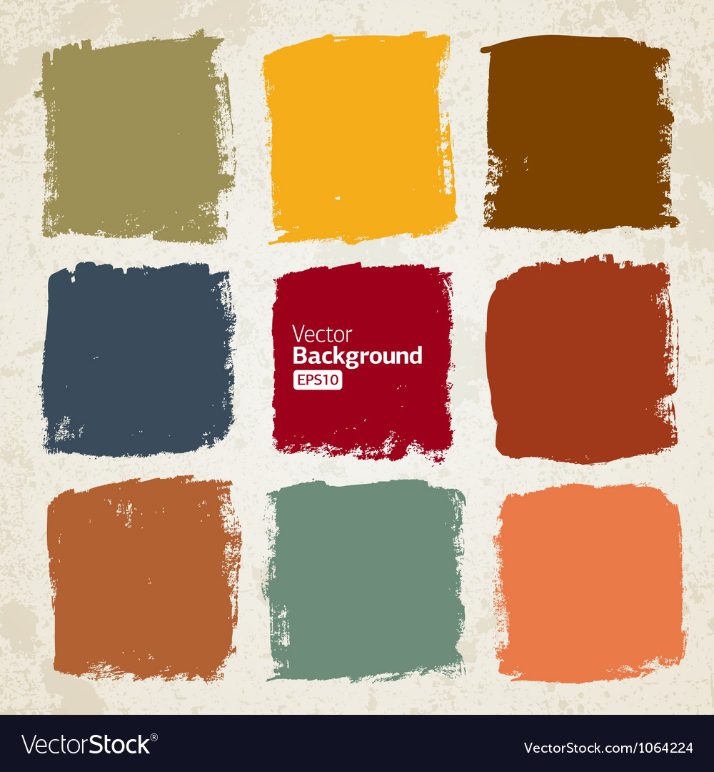 Grunge colorful squares vector