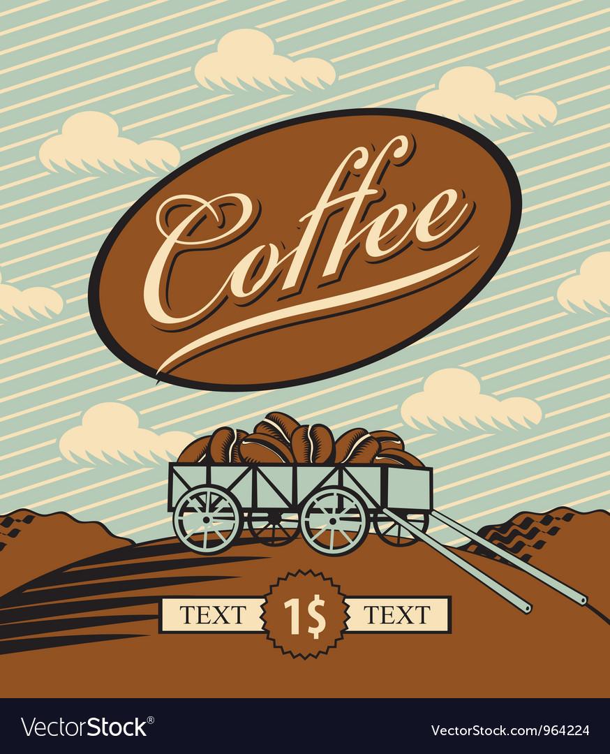 Retro coffee vector