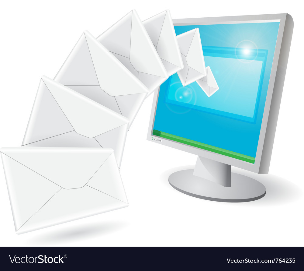 Envelopes flying vector