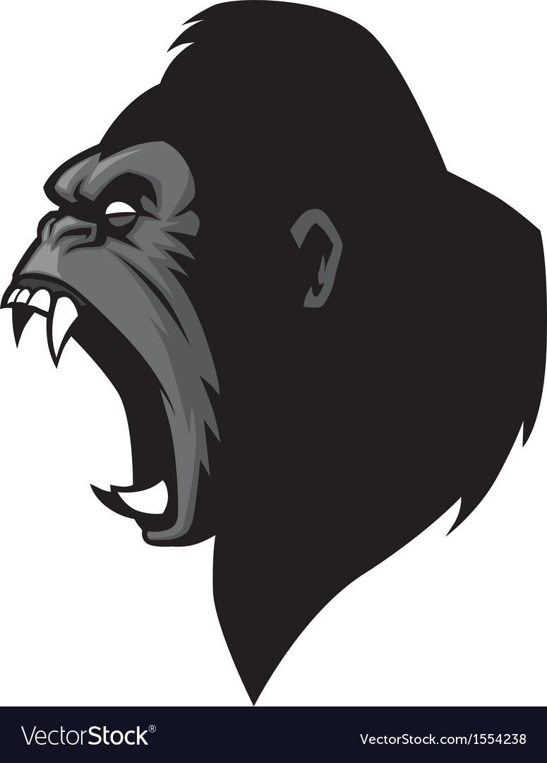 Gorilla vector head - photo#7