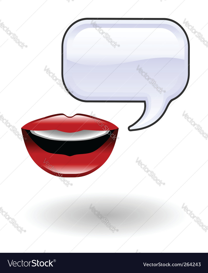 Talk illustration vector