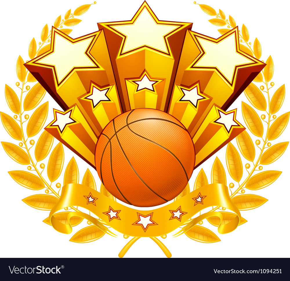 Basketball emblem vector