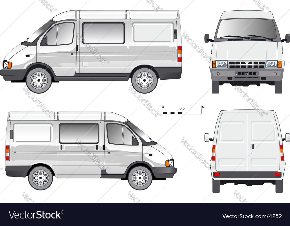 Delivery small truck vector
