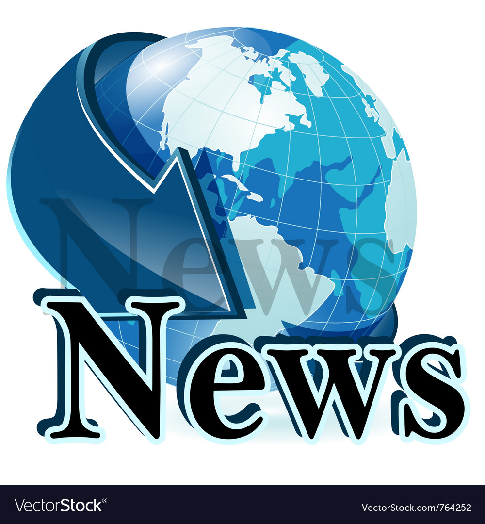 News globe vector