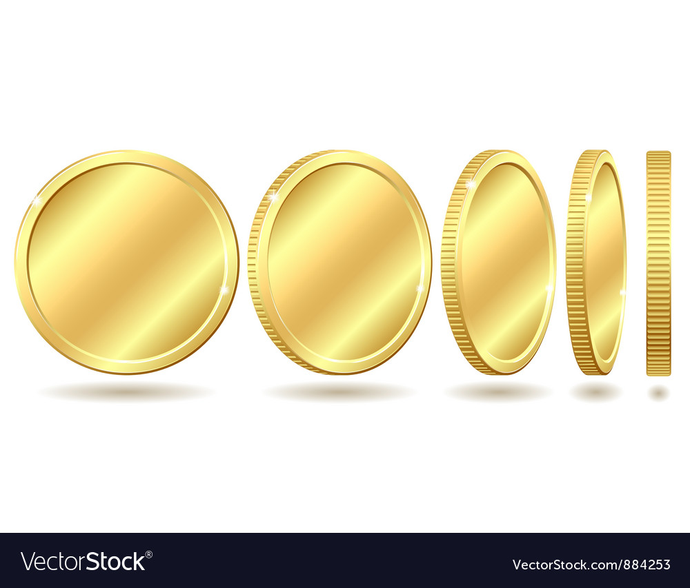 Golden coin vector