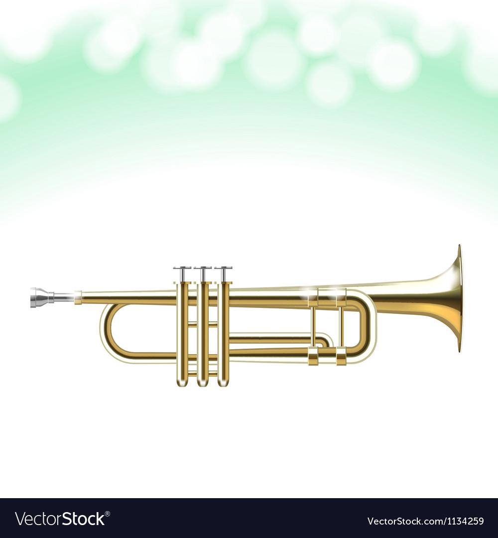 Golden trumpet vector