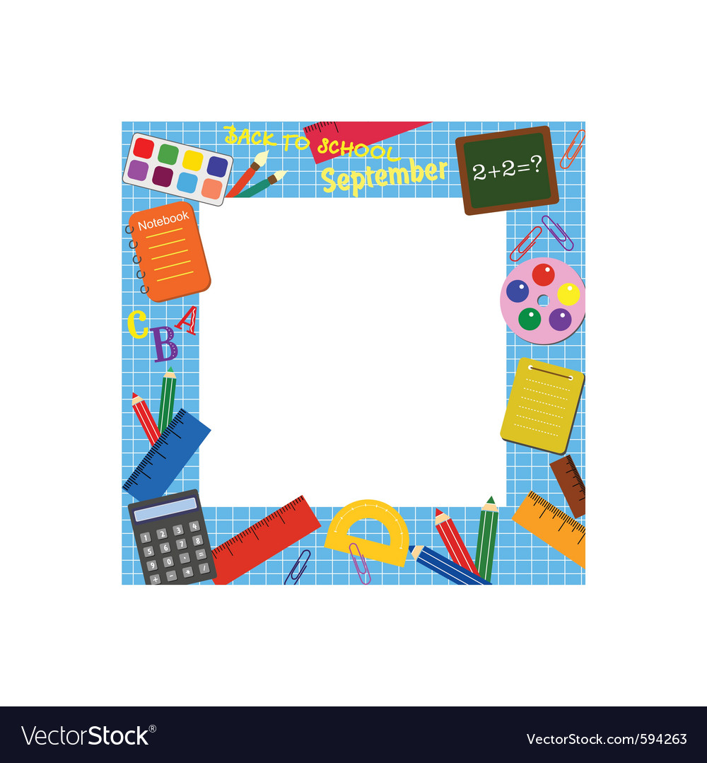 School border frame vector