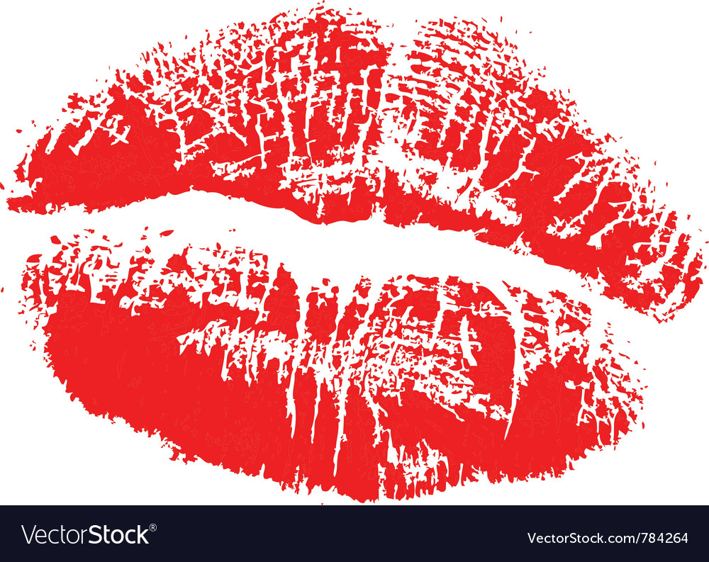Lipstick kiss vector