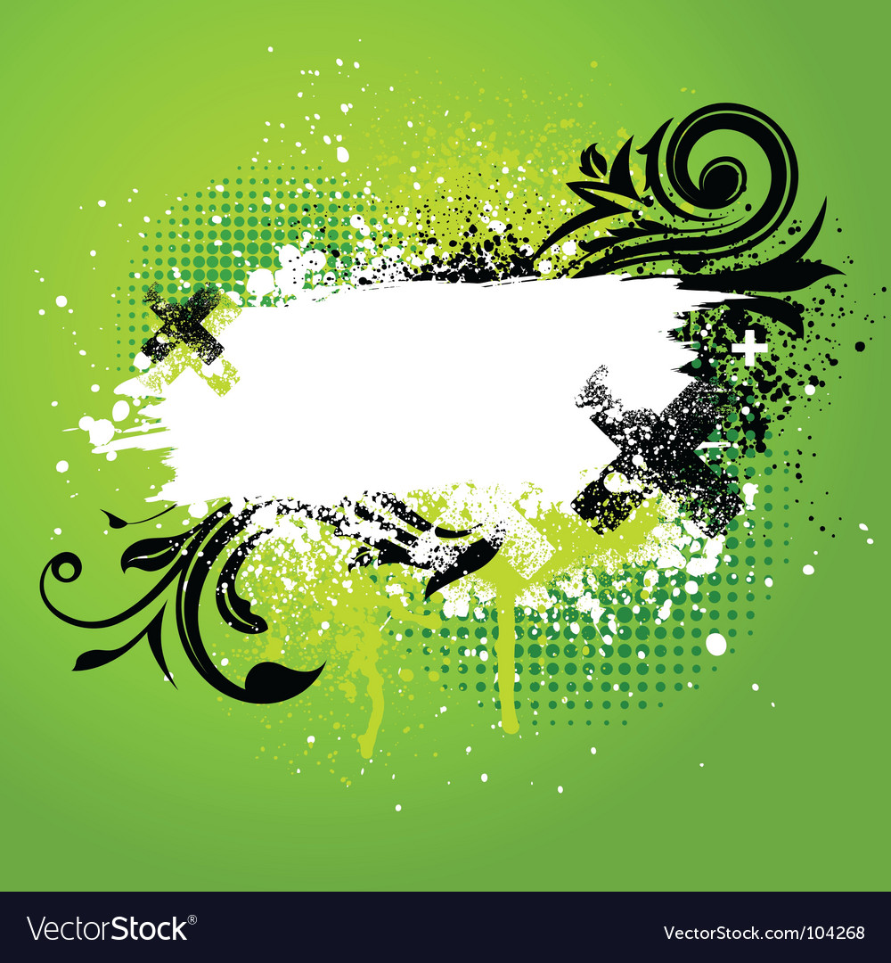 Floral paint splatter vector