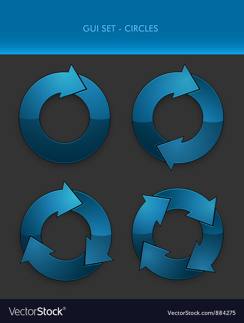 Gui set  circles vector