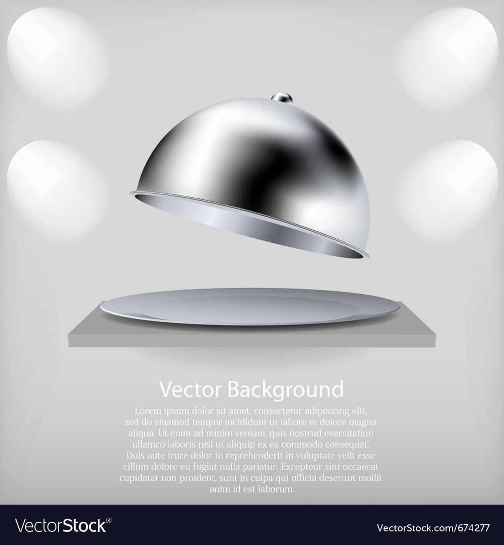 Serving platter vector