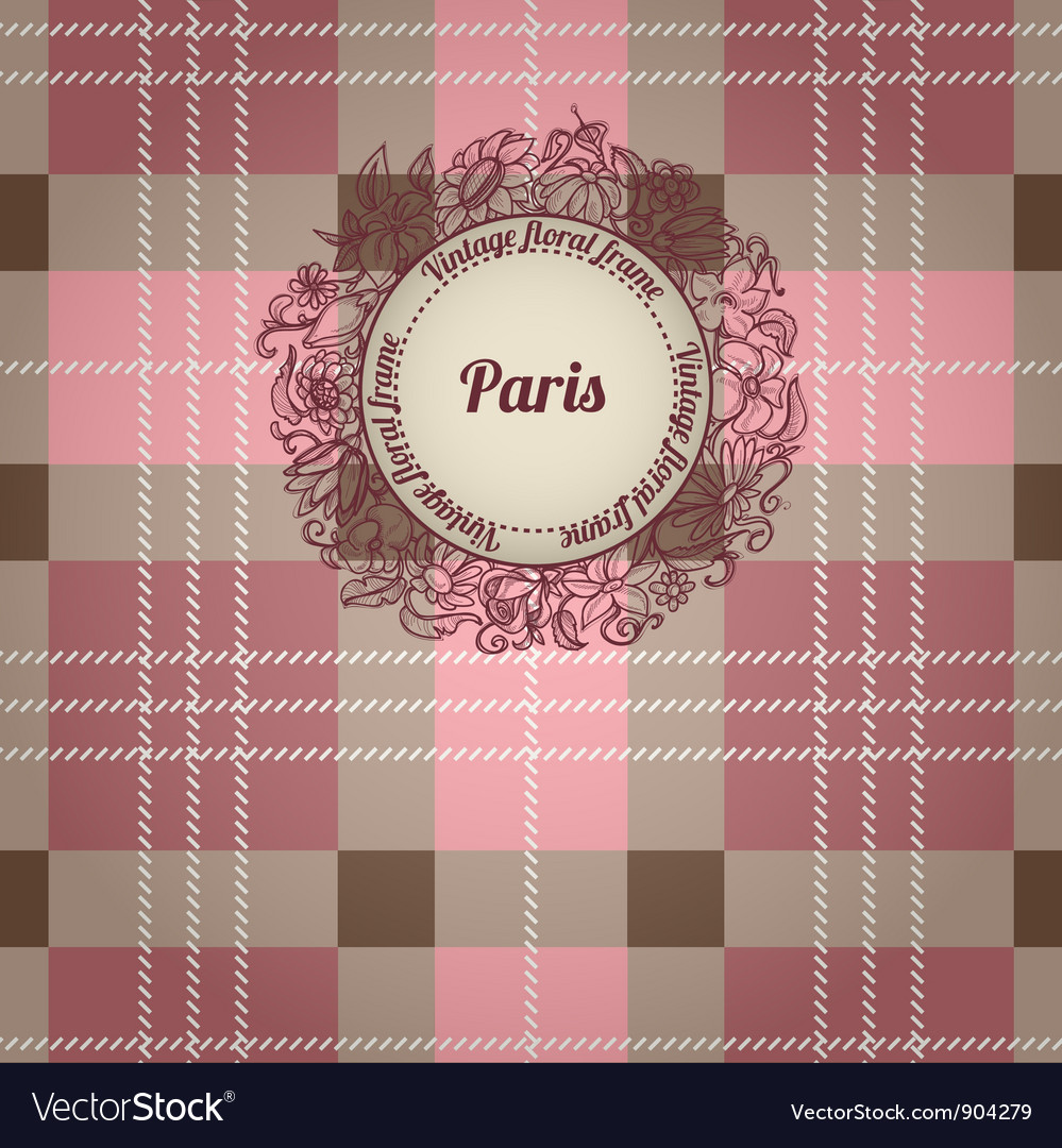 Vintage paris background vector