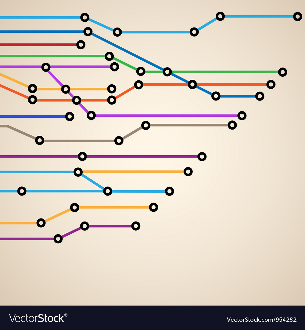 Abstract subway map eps10 vector