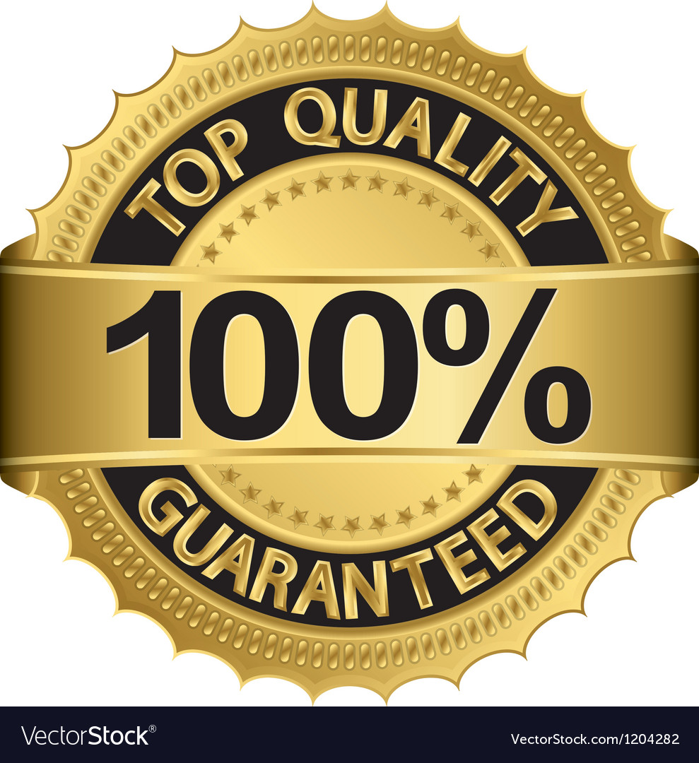 Top quality 100 percent guaranteed golden label vector