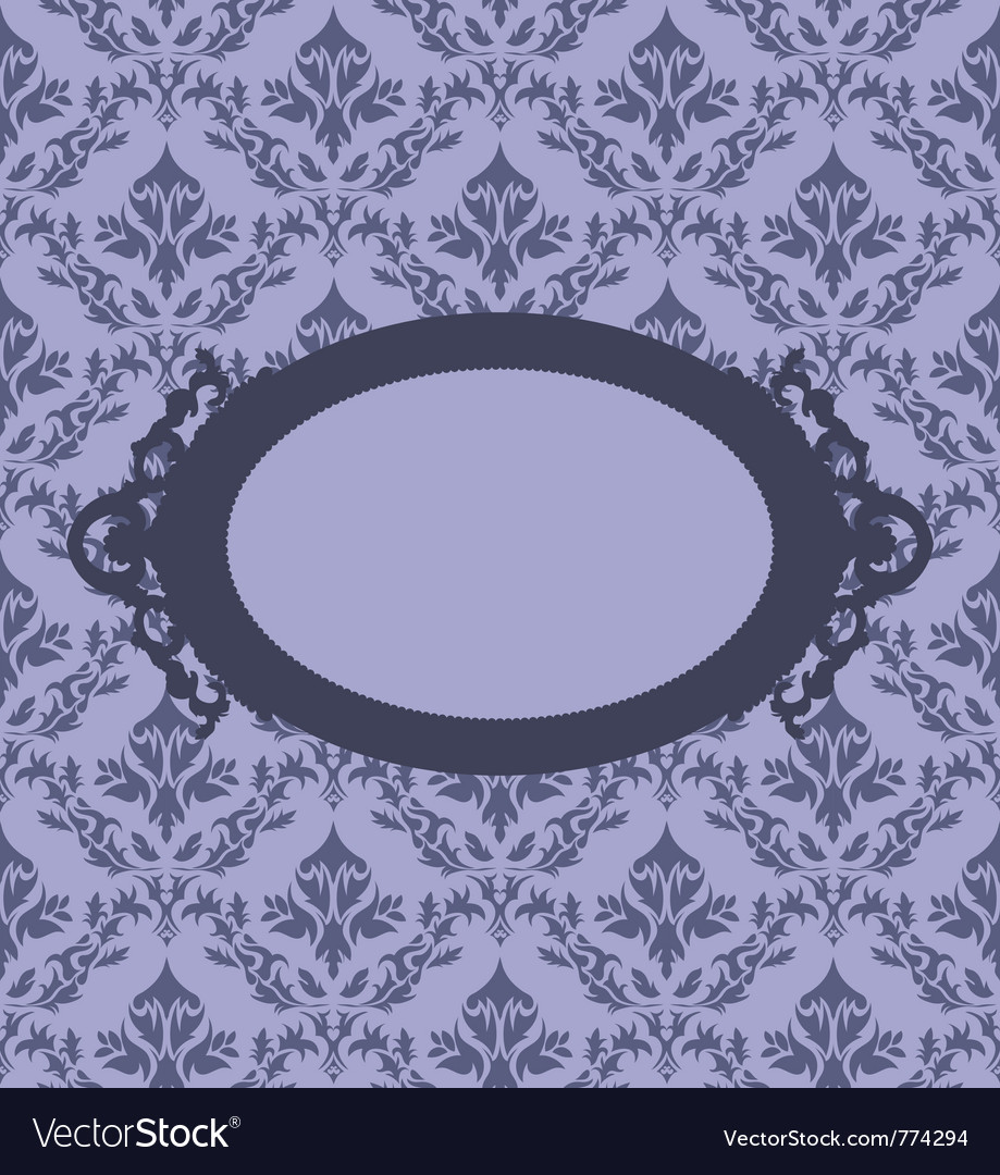 Floral pattern border vector
