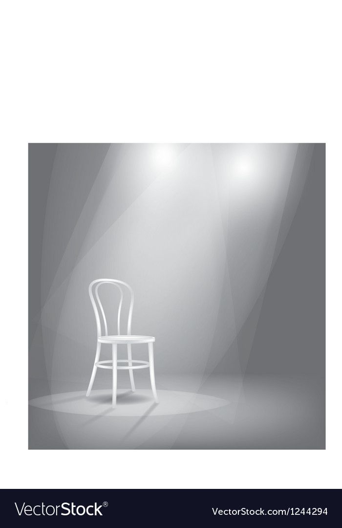 Stage in spotlights vector