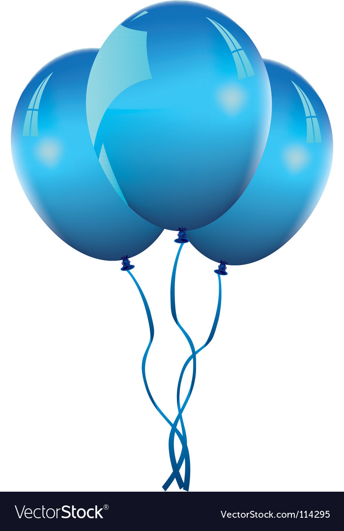 Blue balloons vector