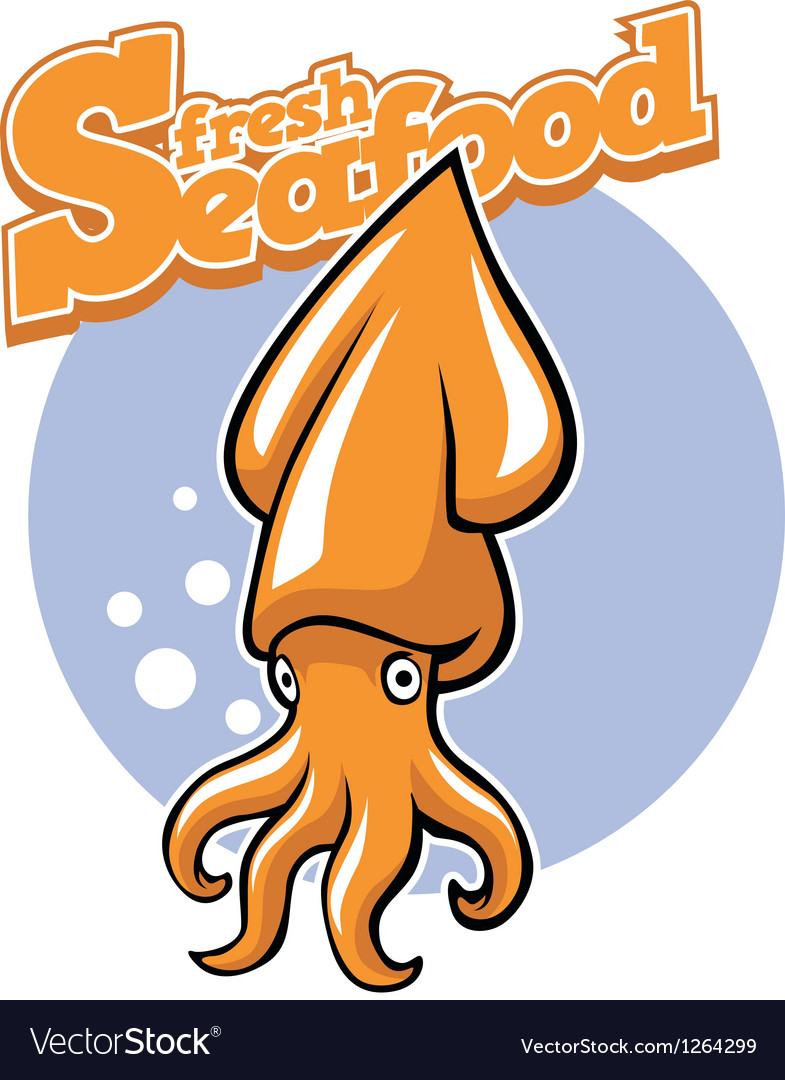 Cartoon squid vector