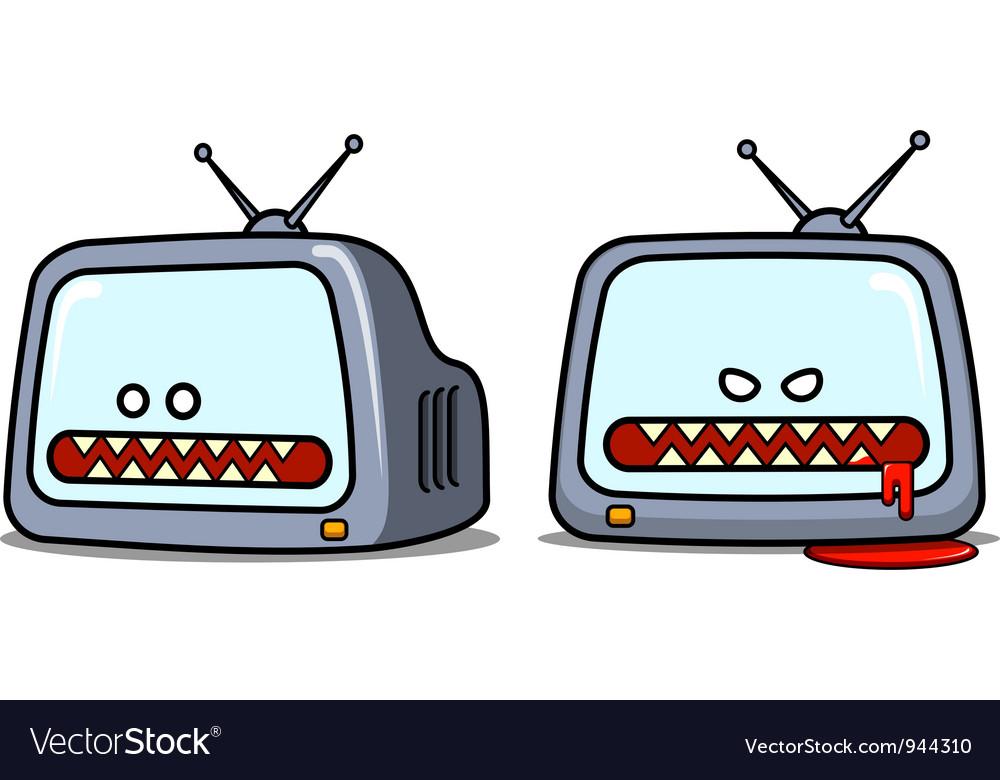 Evil television set vector