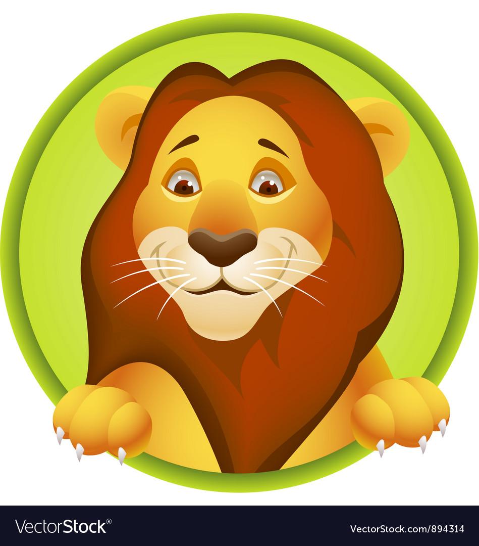 Lion cartoon head - photo#25