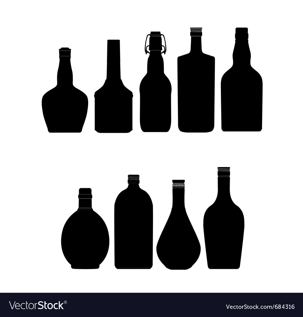 Abstract bottles vector