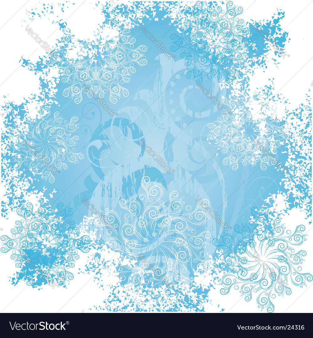 Frosty patterns vector