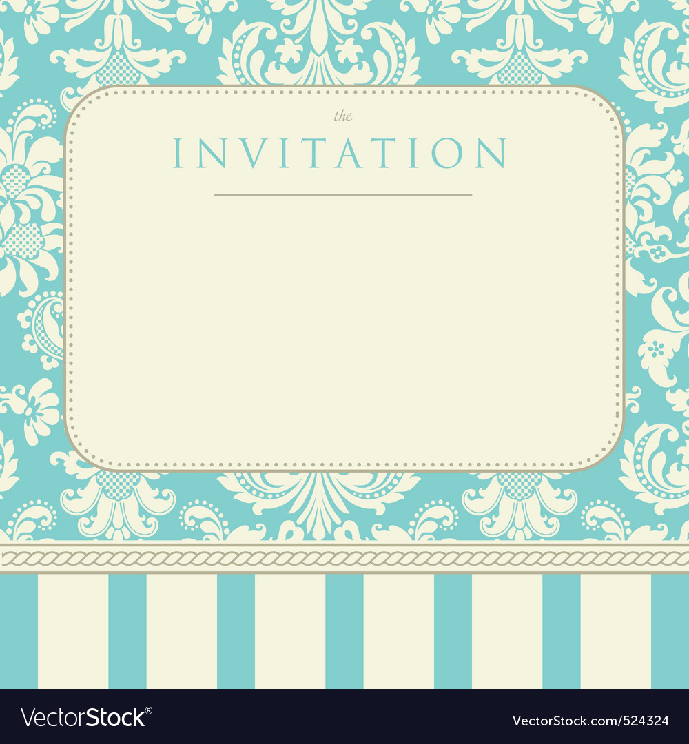 Invitation to the wedding vector