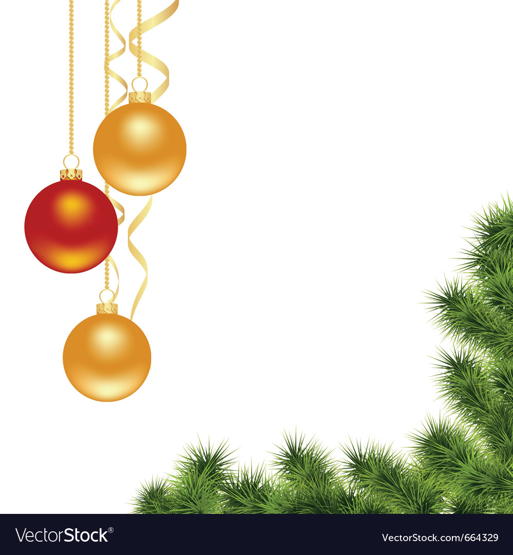 Christmas decorations vector by nete image 664329 vectorstock