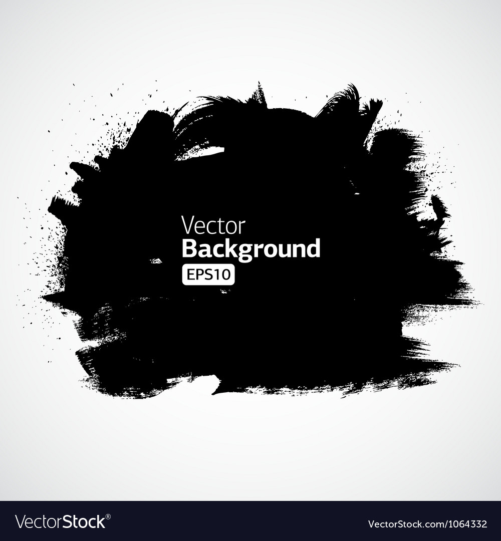 Grunge ink draw background vector