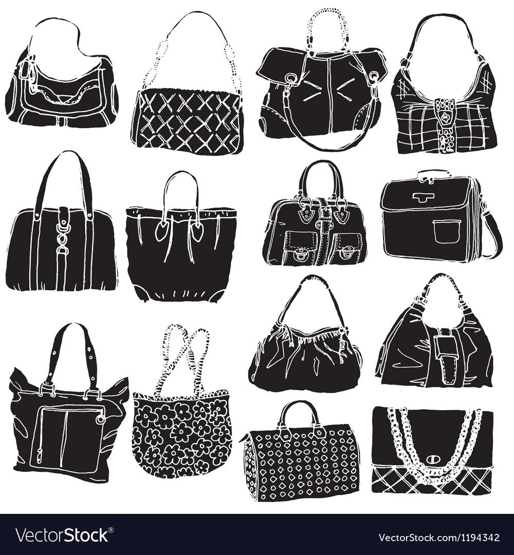 Bags black vector