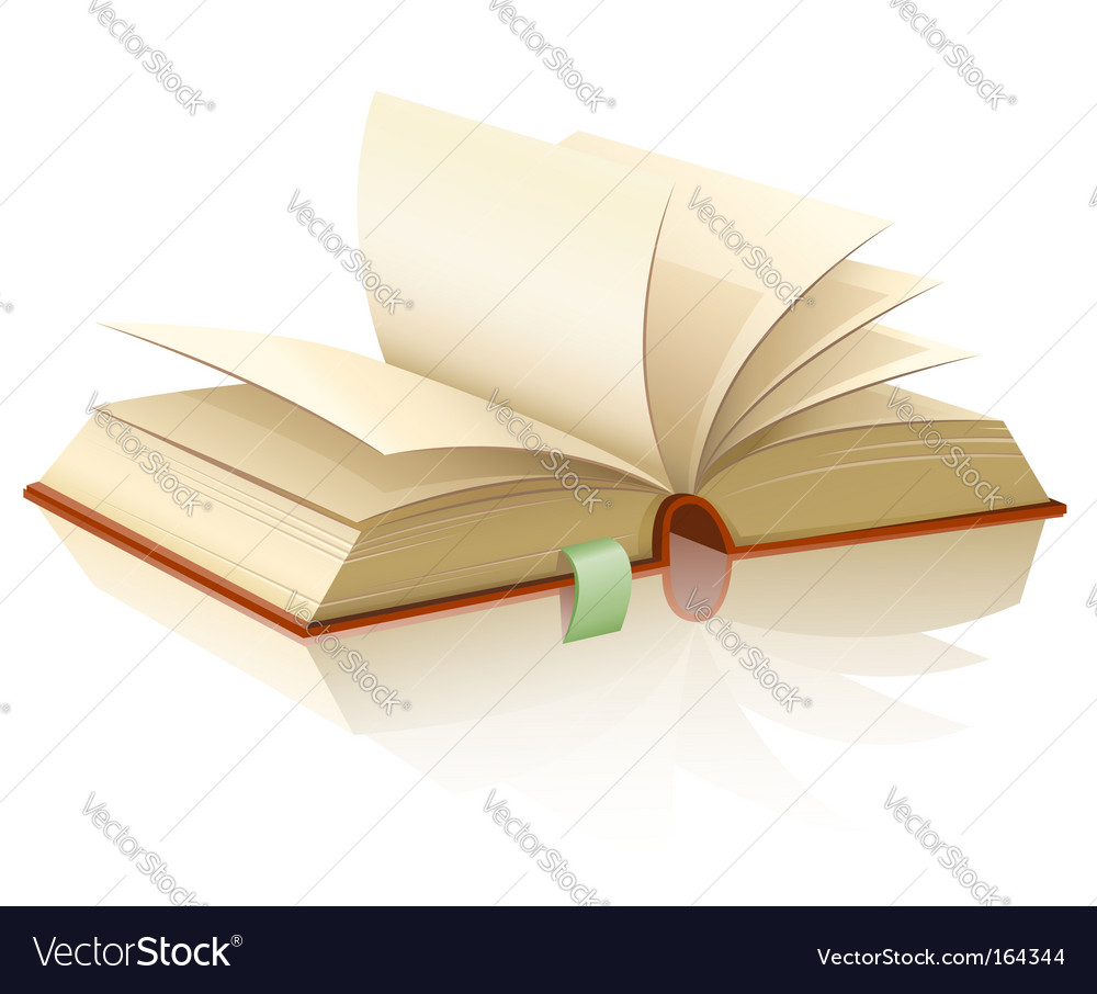 Open book with empty pages vector