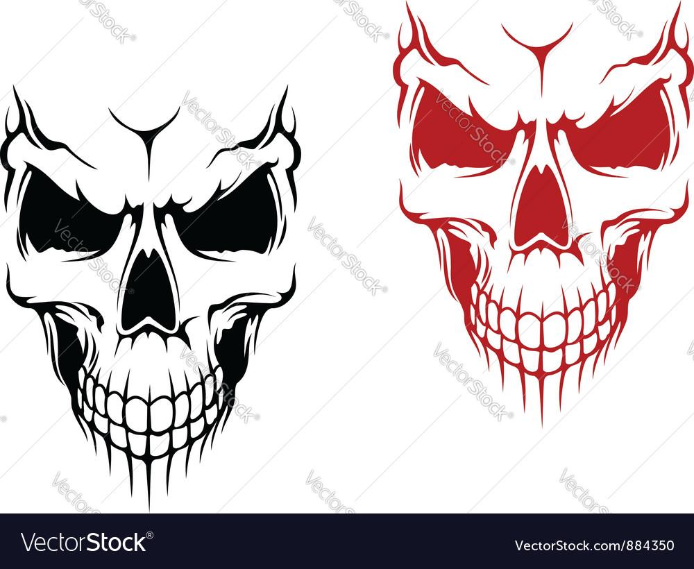 Smiling skulls vector