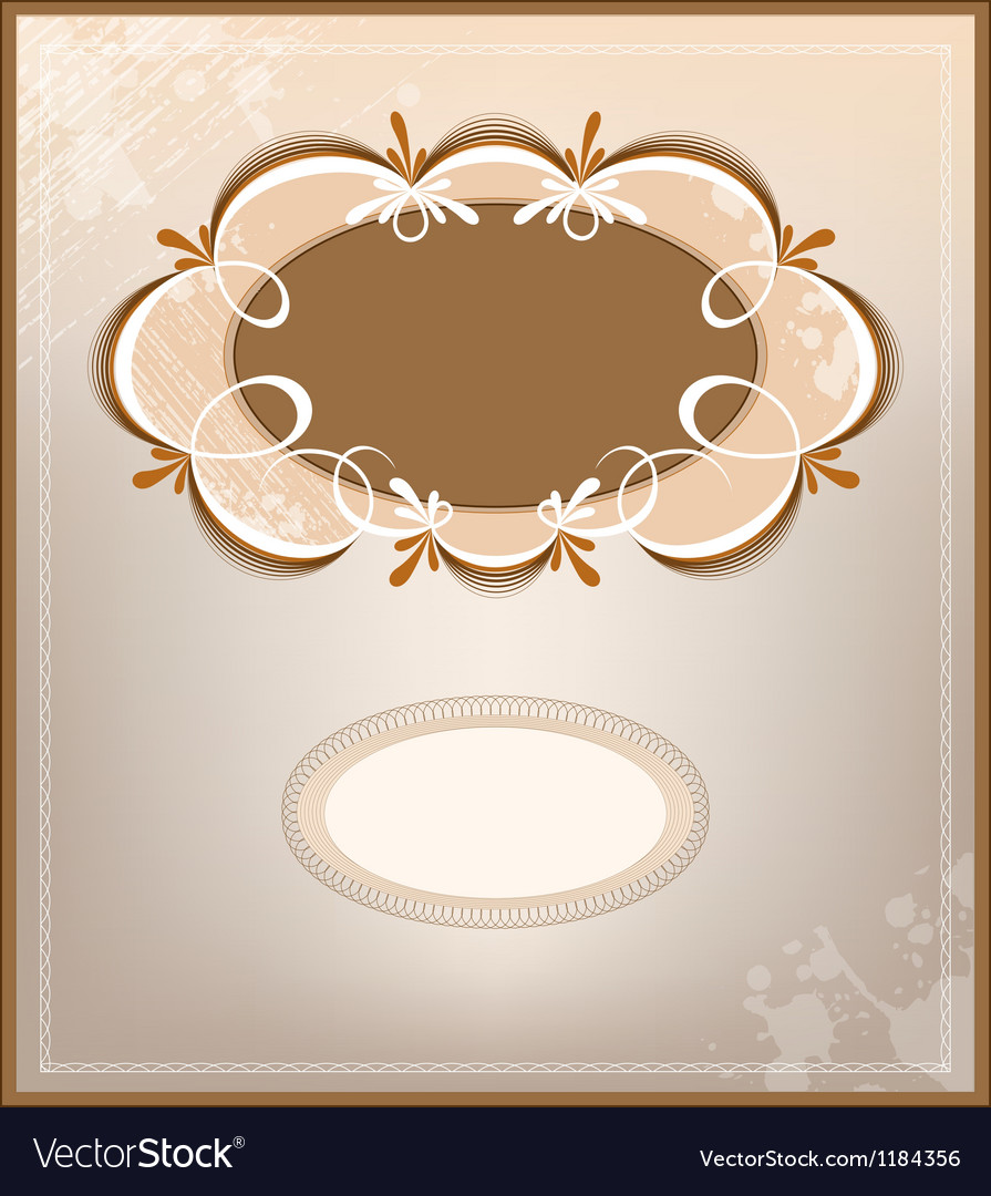 Victorian background and frame vector