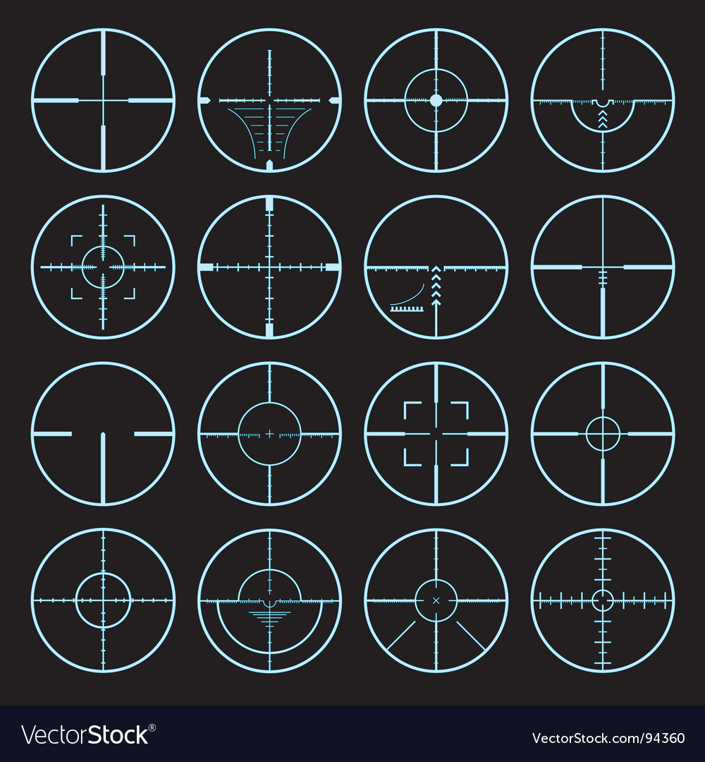 Cross hairs set vector