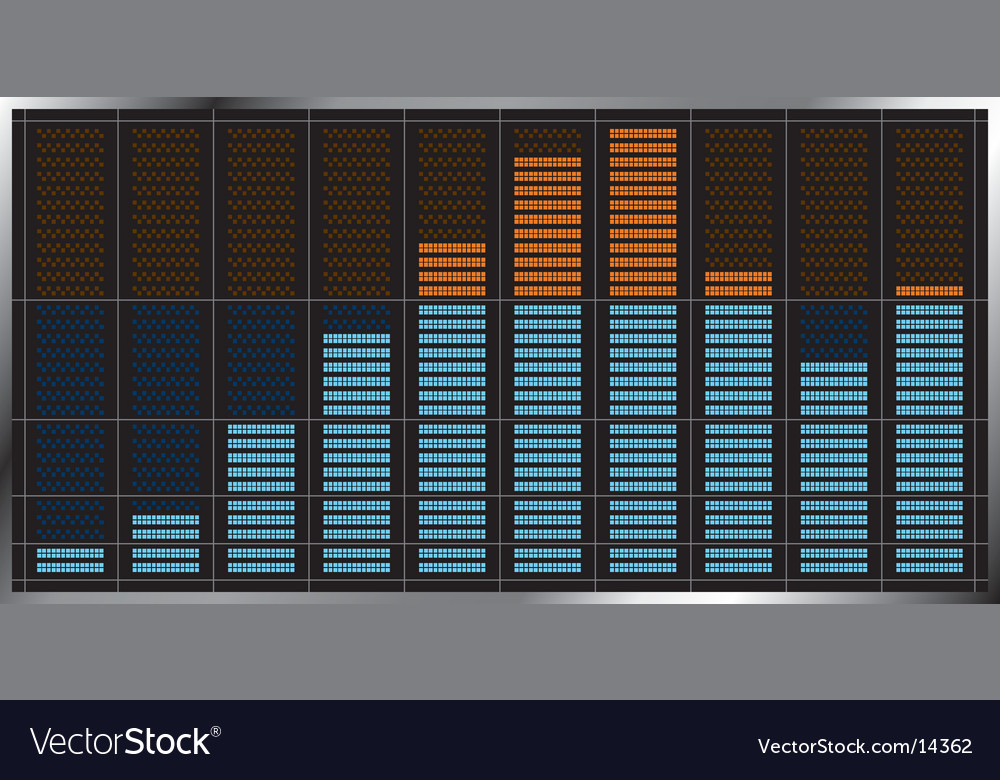 Musical equalizer icon vector