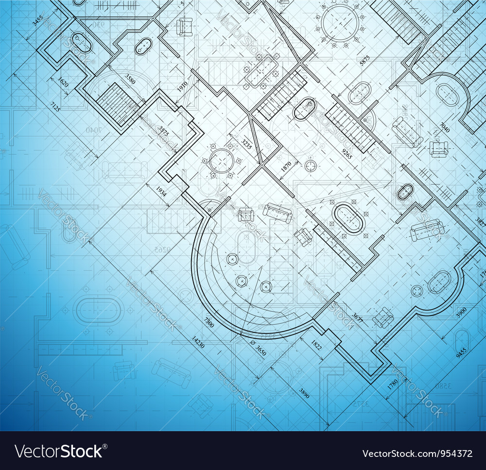 Architectural project vector
