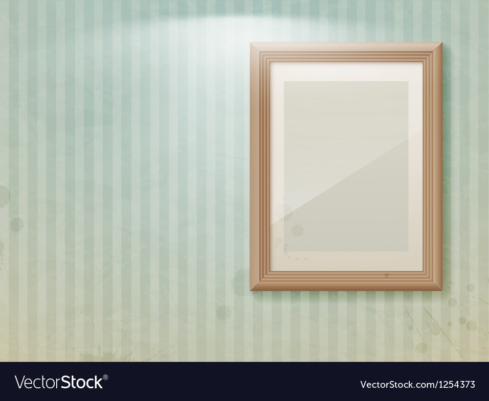 Exhibition vintage stripe vector