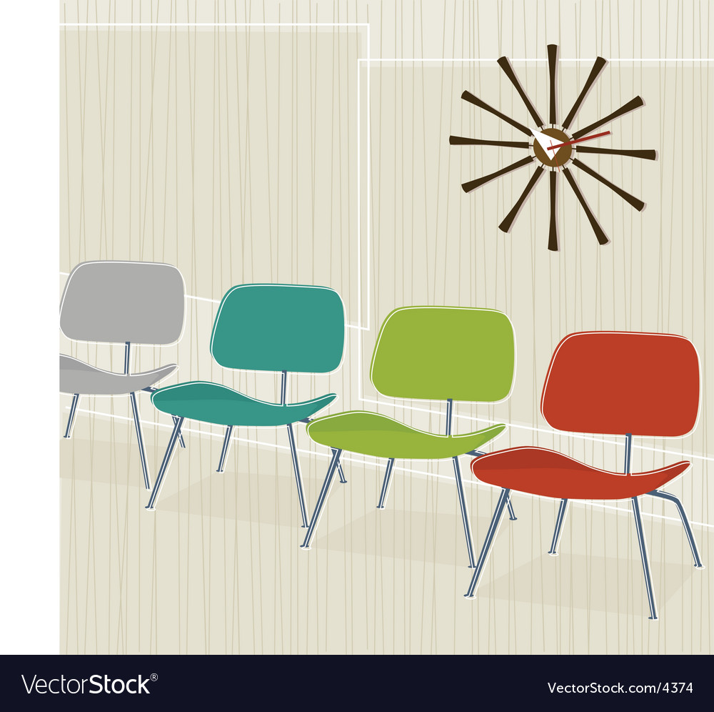 Retroinspired chairs vector