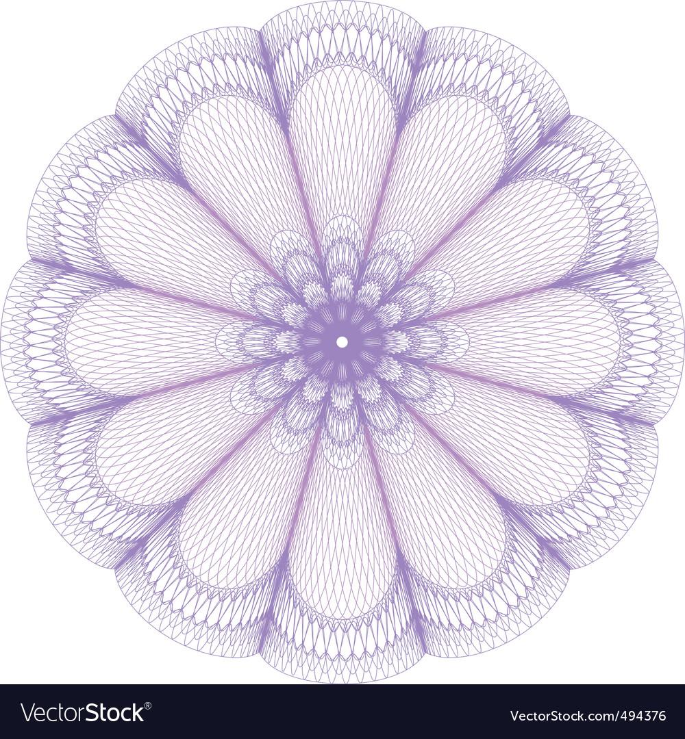Guilloche rosette vector