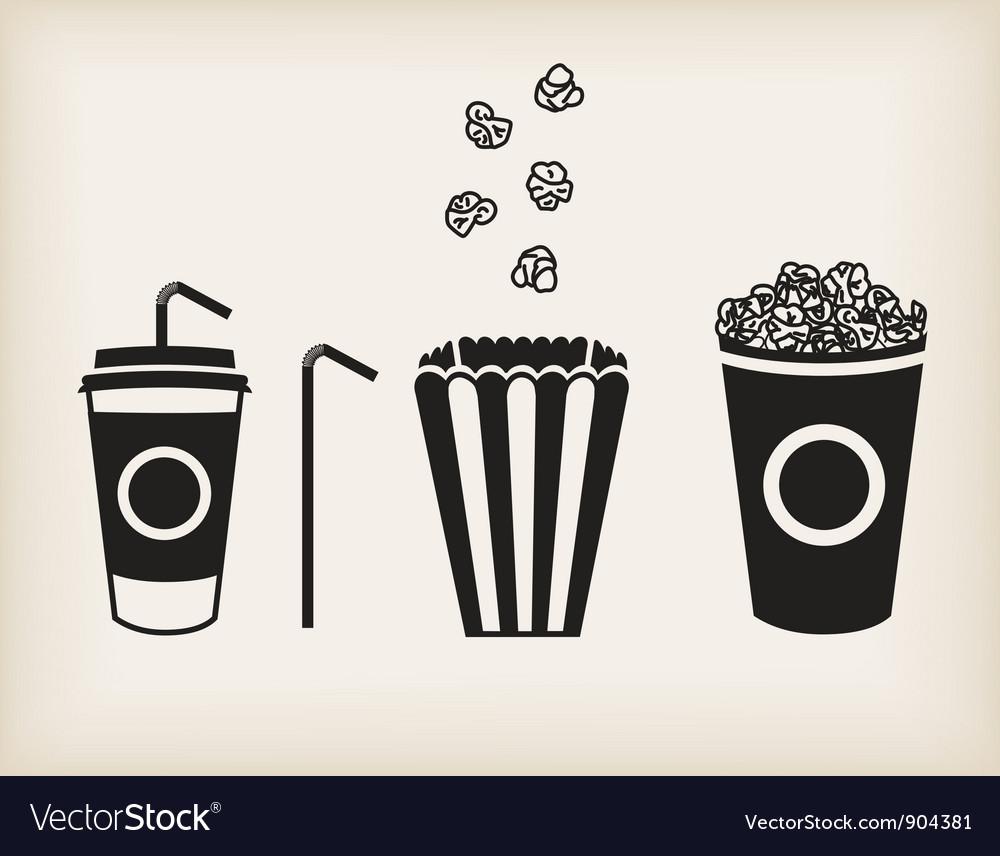 Popcorn set vector