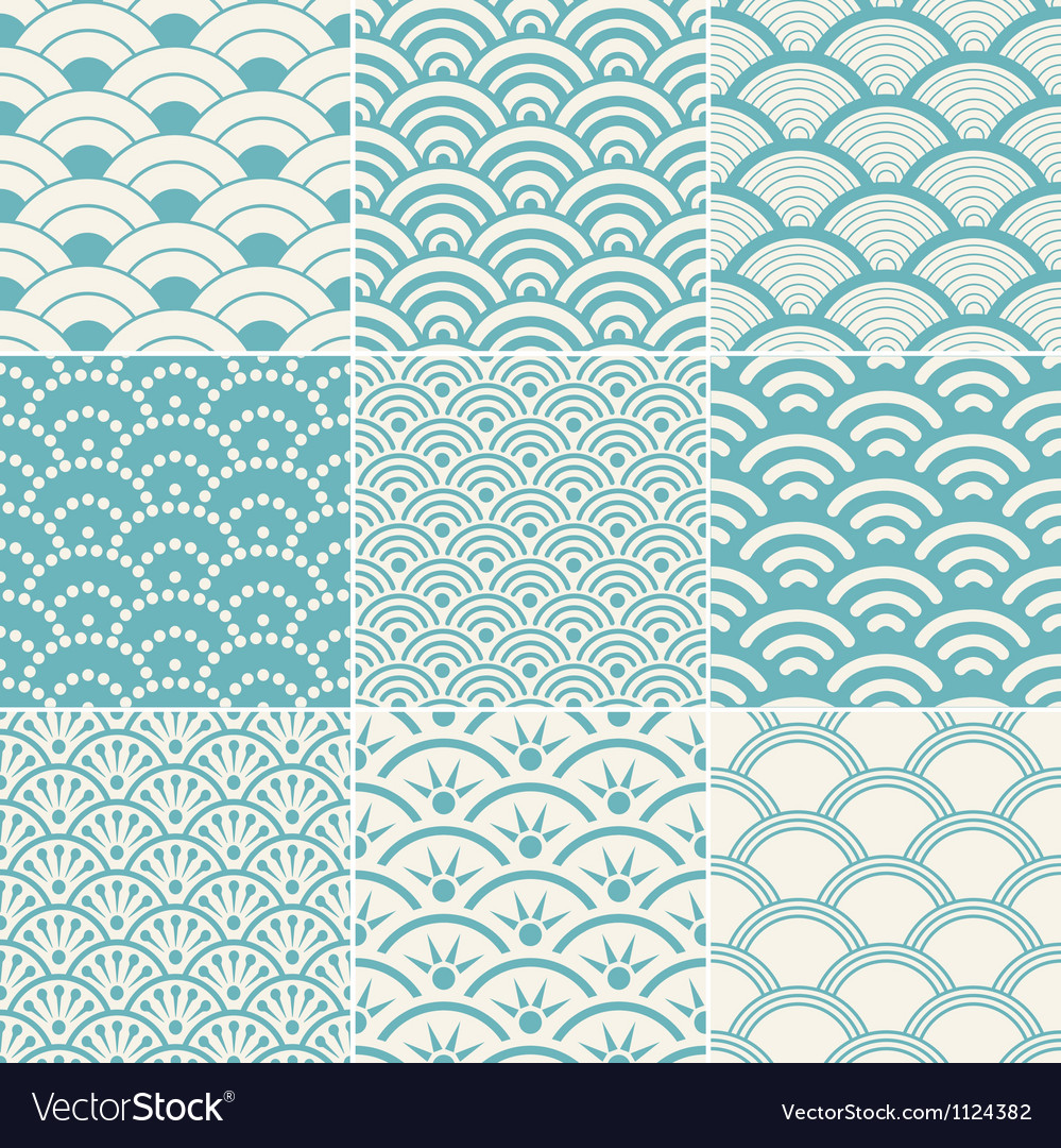 Seamless ocean wave pattern vectorVector Wave Pattern