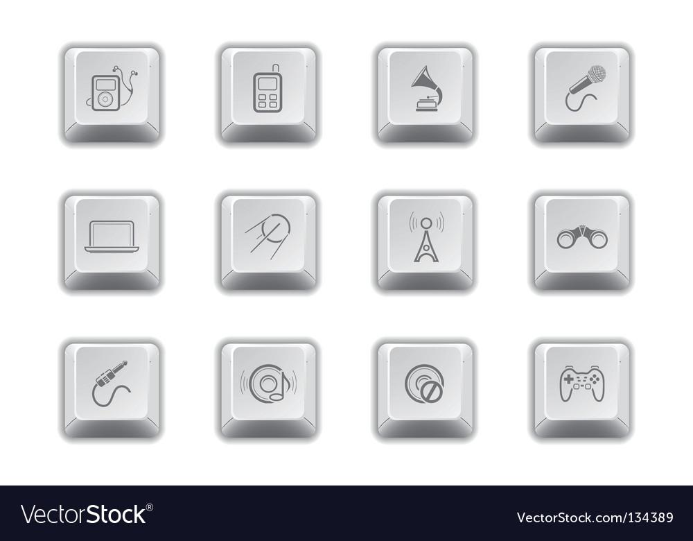 Media keys  vector