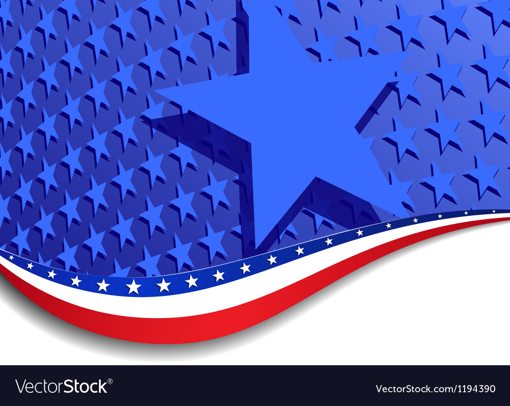 Stars and stripes landscape large star vector
