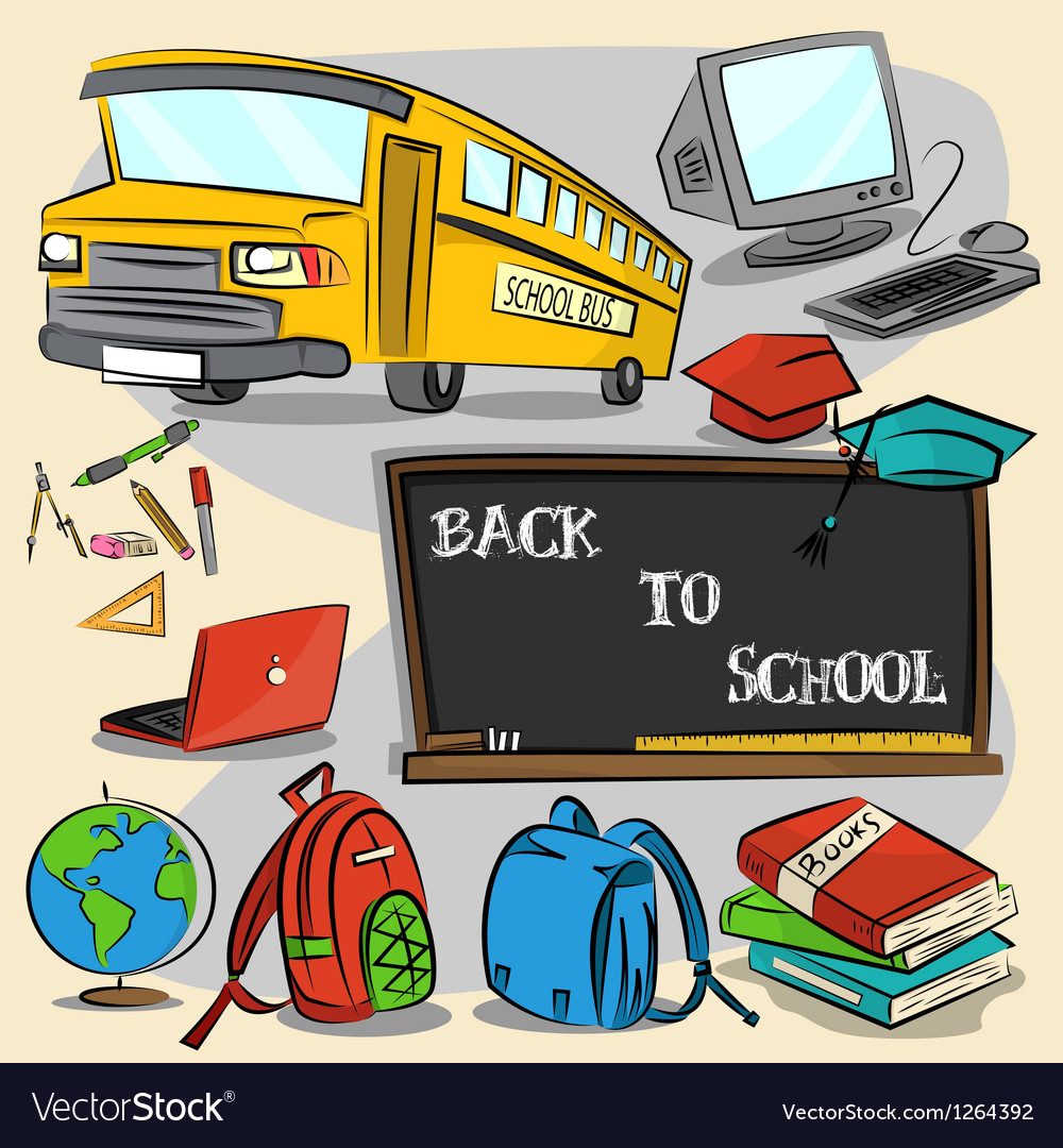 Back to school stroke version 1 vector